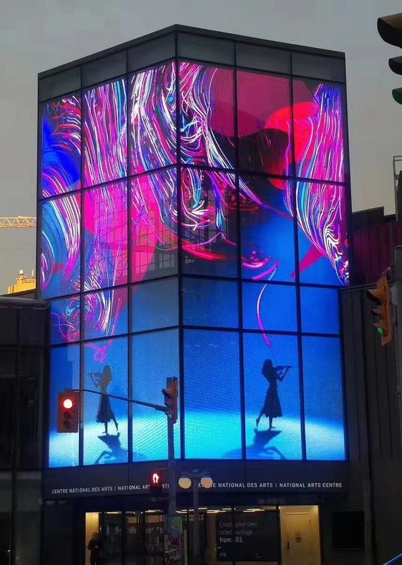 High Brightness Transparent LED Display Stage 1000x500mm Size P3.91 Suspension