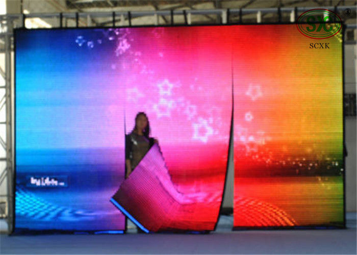 Public area stage show IP68 P25 Curtain LED Display with 6500cd/m2 brightness